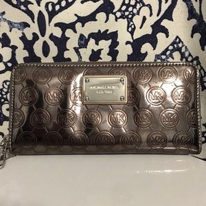 Michael Kors Long Metallic Wallet